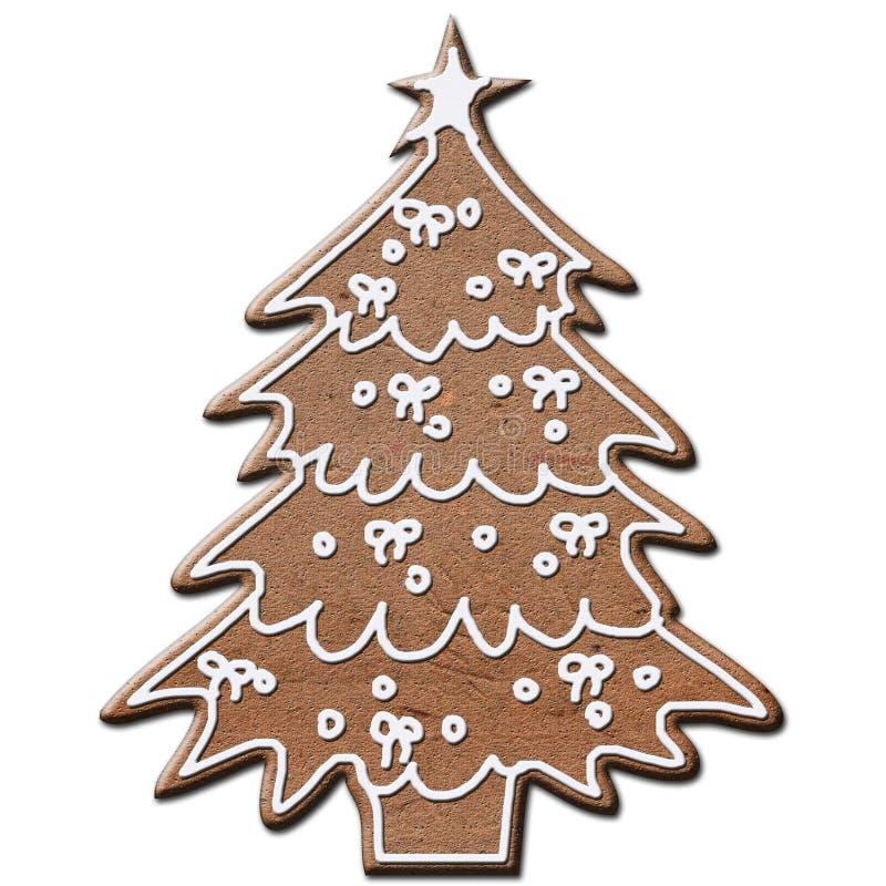 Albero di Natale del pan di zenzero immagini stock libere da diritti