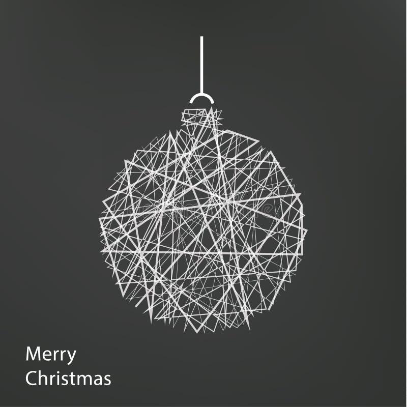Albero di Natale del profilo di vettore Fondo moderno di Natale con illustrazione vettoriale