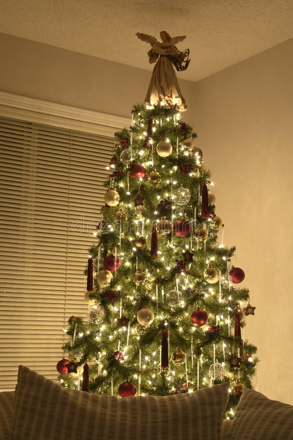 Albero di Natale del Victorian fotografie stock libere da diritti