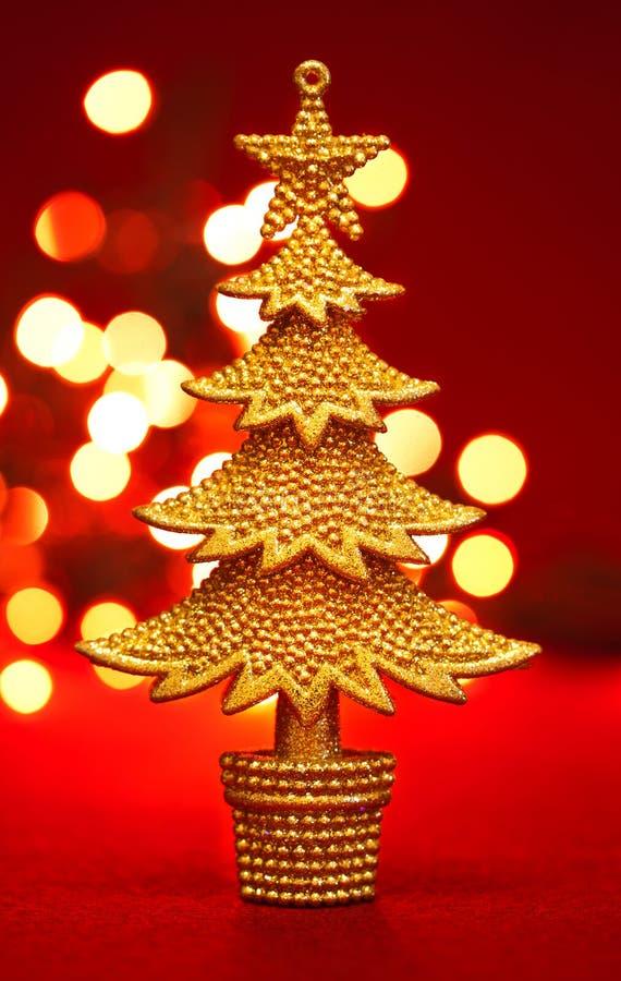 Albero di Natale dell'oro immagine stock