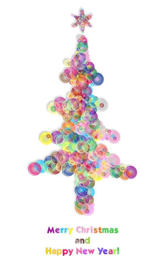 Albero di Natale della bolla illustrazione vettoriale