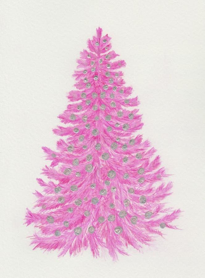 Albero di Natale dentellare illustrazione vettoriale