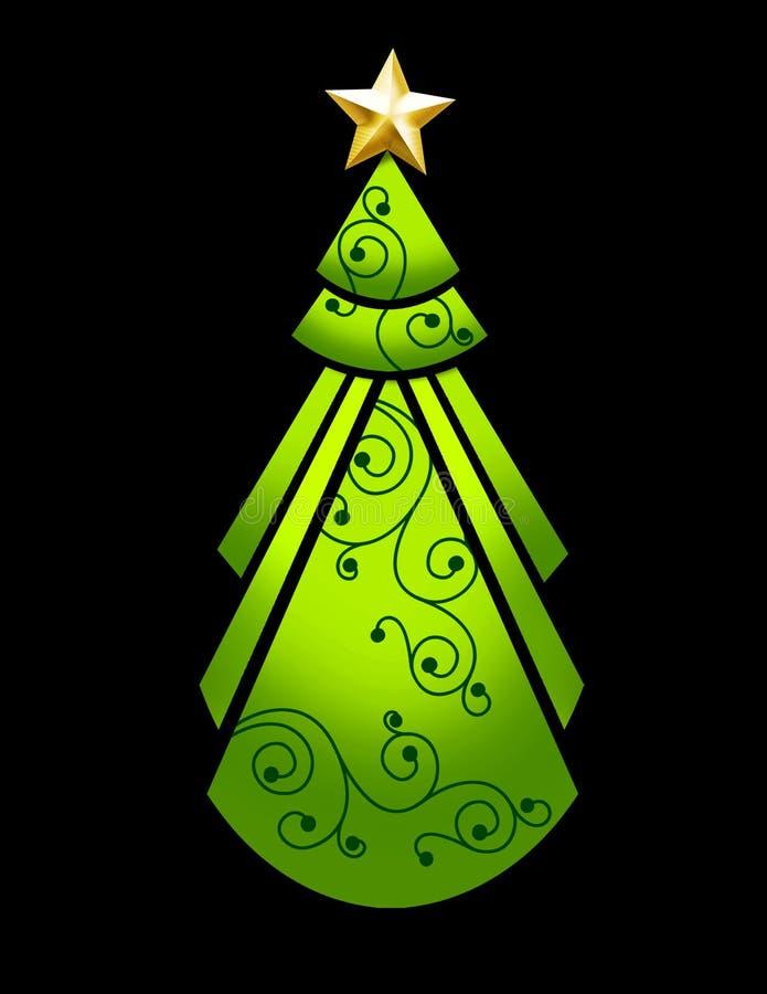 Albero di Natale di art deco illustrazione vettoriale