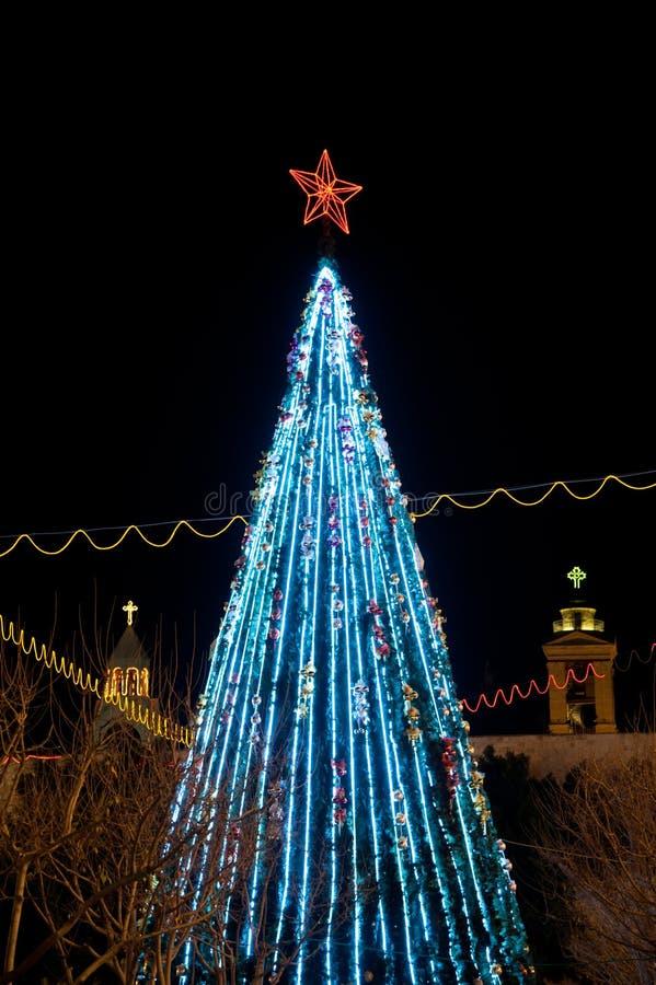 Albero di Natale di Bethlehem fotografia stock