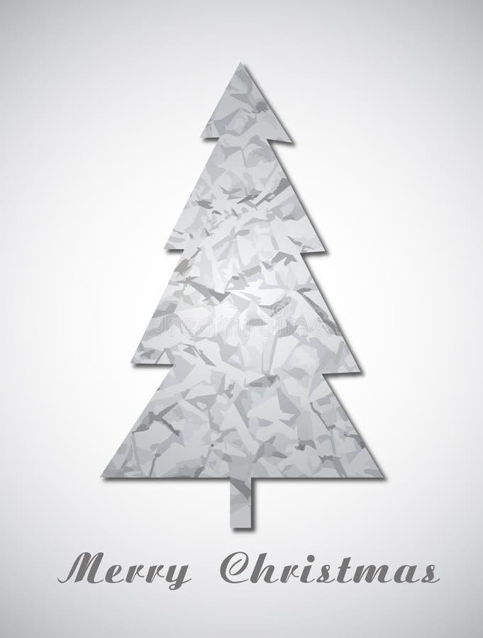 Albero di Natale di carta illustrazione di stock