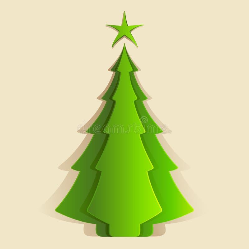 Albero di Natale di carta immagine stock libera da diritti