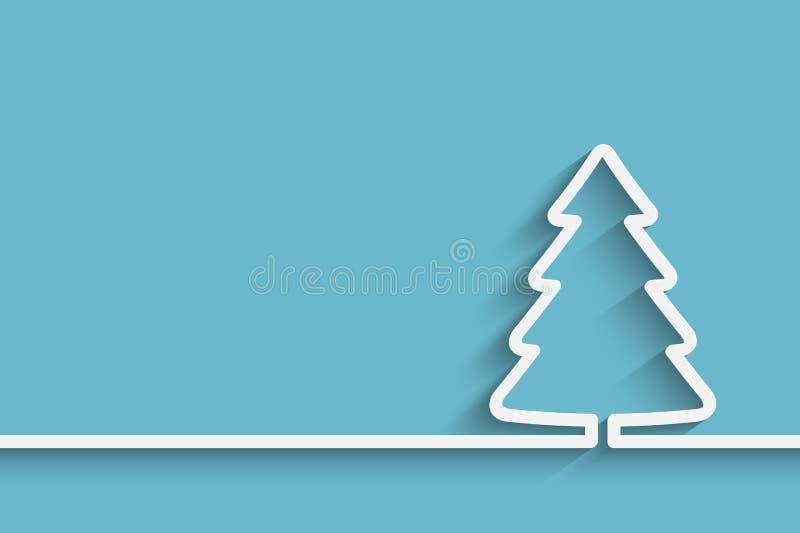 Albero di Natale di carta creativo illustrazione vettoriale