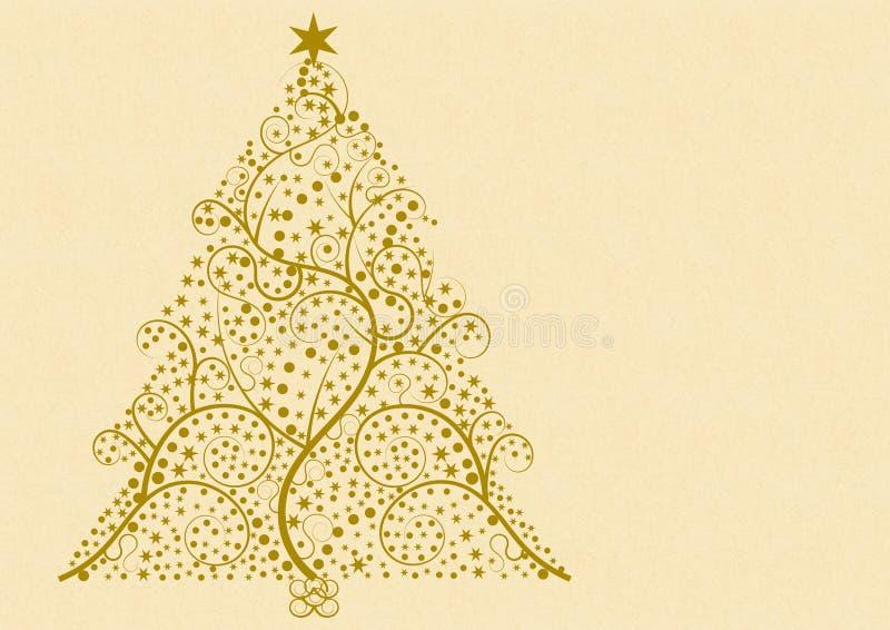 Albero di Natale di Flourish royalty illustrazione gratis