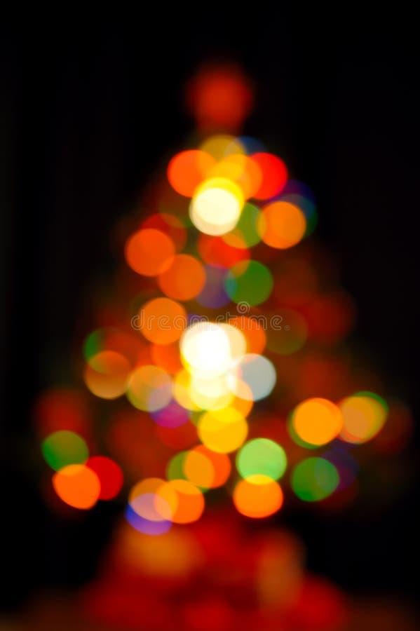 Albero di Natale di illuminazione fotografia stock libera da diritti
