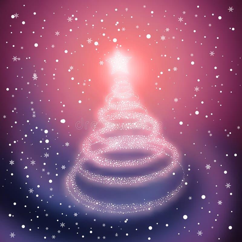 Albero di Natale di inverno illustrazione vettoriale