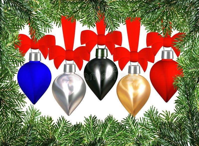 Download Albero Di Natale Di Natale Della Bagattella Illustrazione di Stock - Illustrazione di vetro, background: 3881927