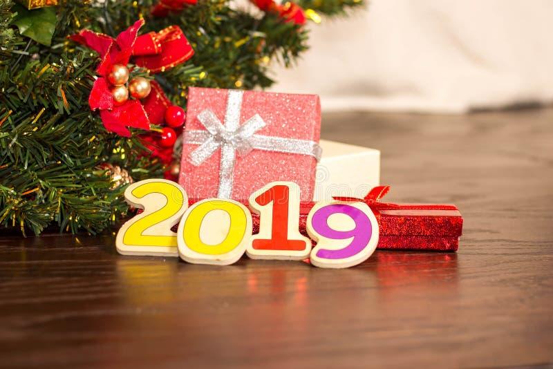 Albero di Natale e carta del nuovo anno immagine stock