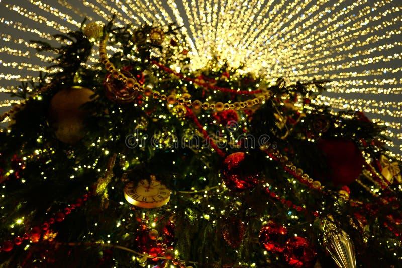 Albero di Natale e illuminazione fotografia stock libera da diritti