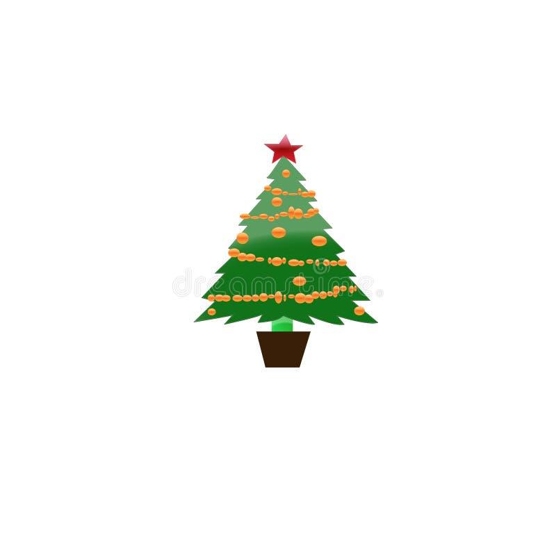 Albero di Natale e presente decorati - illustrazione immagini stock libere da diritti