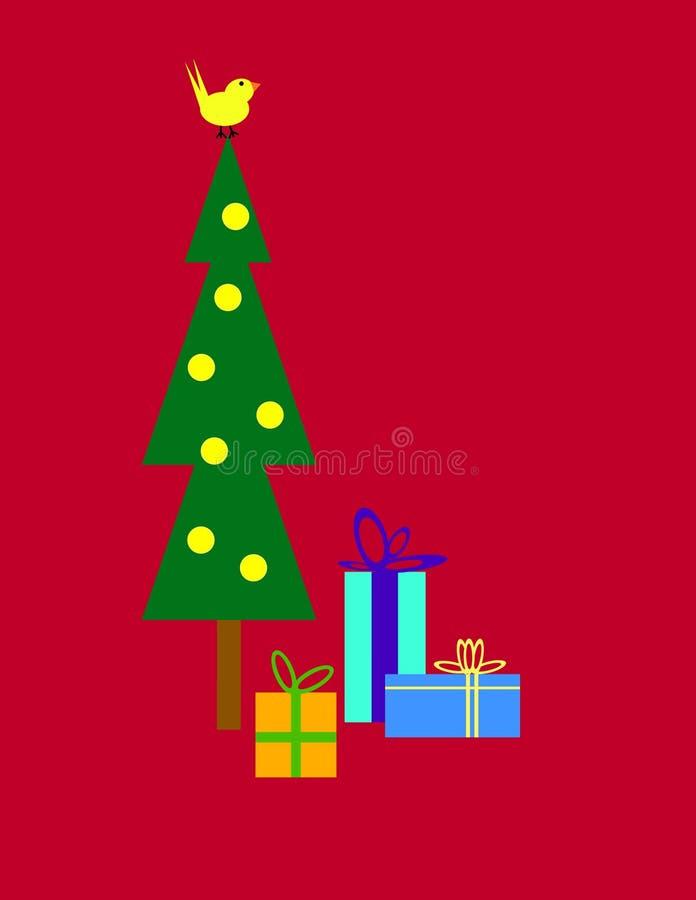 Albero di Natale e regali illustrazione di stock