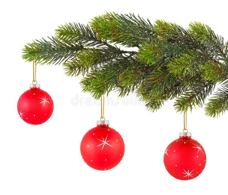 Albero di Natale e sfere fotografia stock libera da diritti