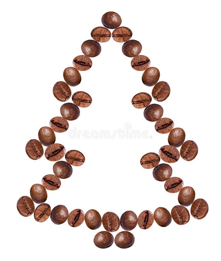 Albero di Natale fatto dai chicchi di caffè. fotografia stock