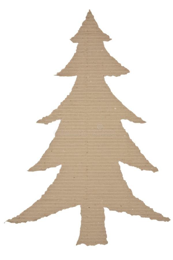 Albero di Natale fatto di cartone ondulato fotografia stock