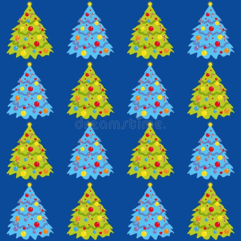 Albero di Natale, fondo senza cuciture, carta da parati, illustrazione di vettore illustrazione vettoriale