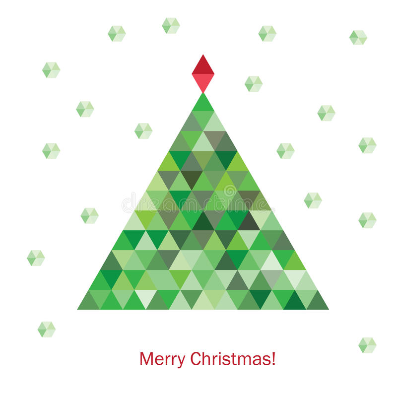 Albero di Natale geometrico variopinto illustrazione di stock