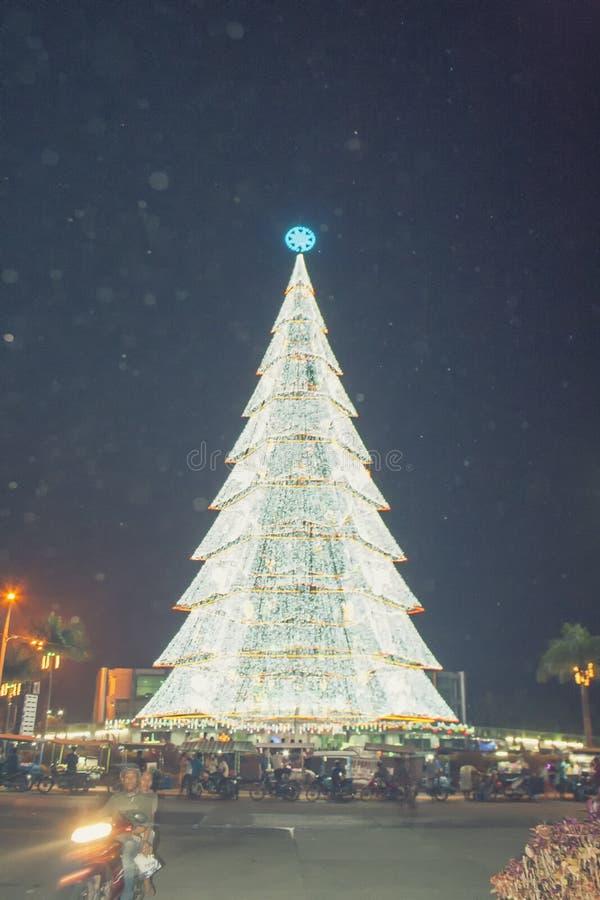 Albero di Natale gigante della città di Tagum fotografie stock