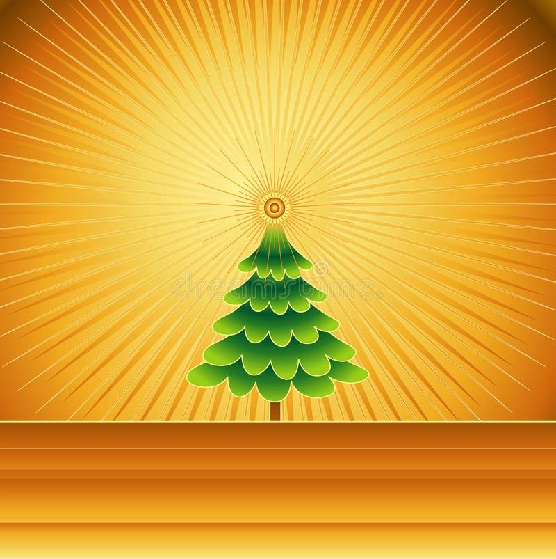 Albero di Natale, illustra di vettore illustrazione vettoriale