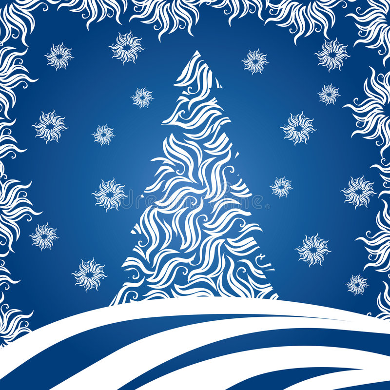 Albero di Natale (illustrazione) illustrazione vettoriale
