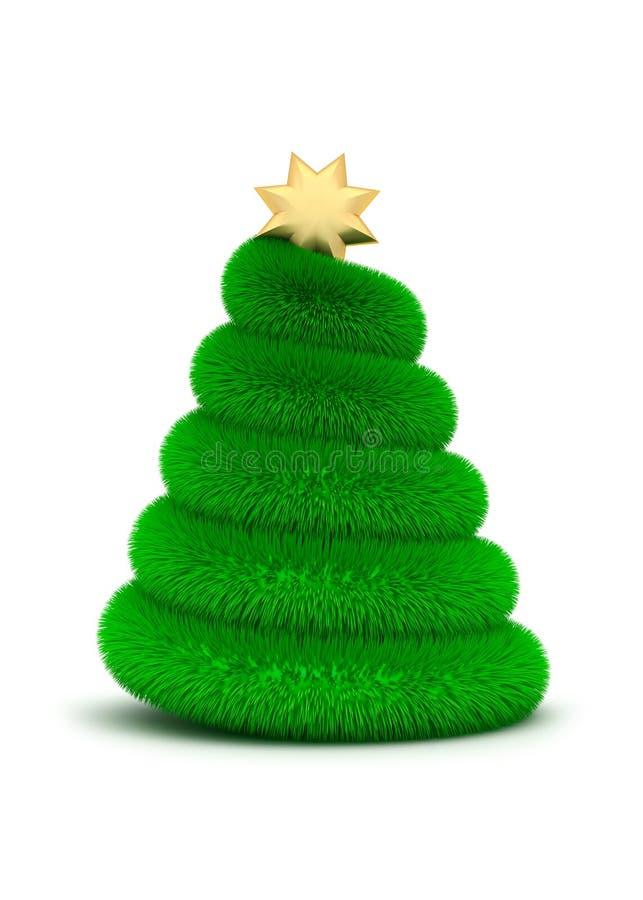 Albero di Natale - illustrazione 3D illustrazione di stock