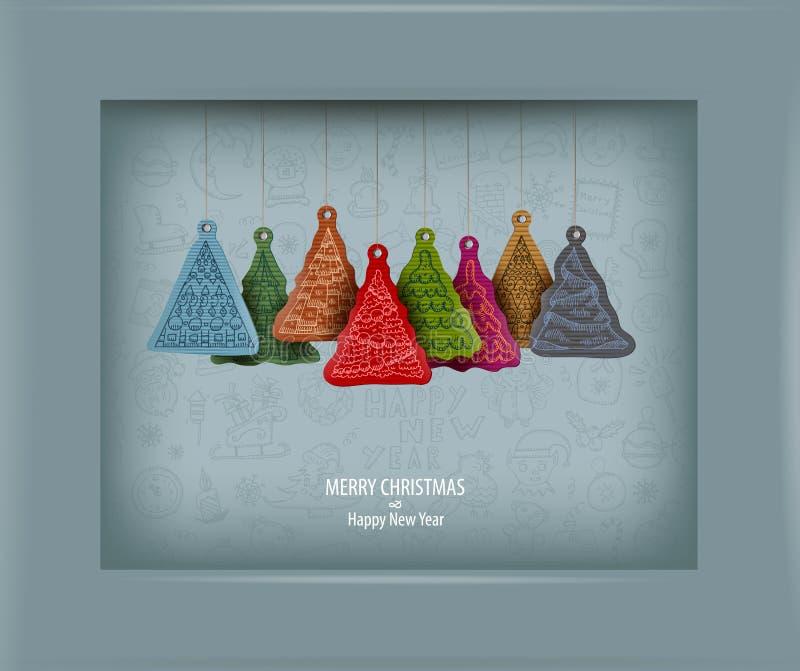 Albero di Natale. Illustrazione di vettore royalty illustrazione gratis