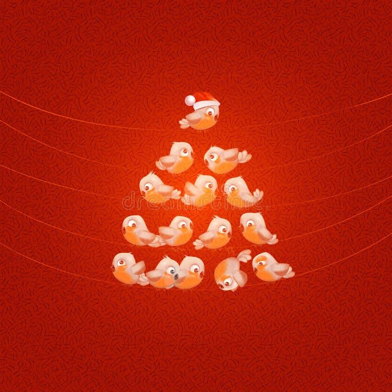 Albero di Natale. Illustrazione di vettore illustrazione di stock