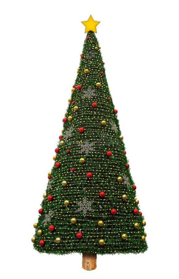 Albero di Natale isolato immagini stock