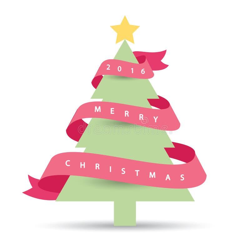 Albero di Natale moderno 2016 illustrazione di stock