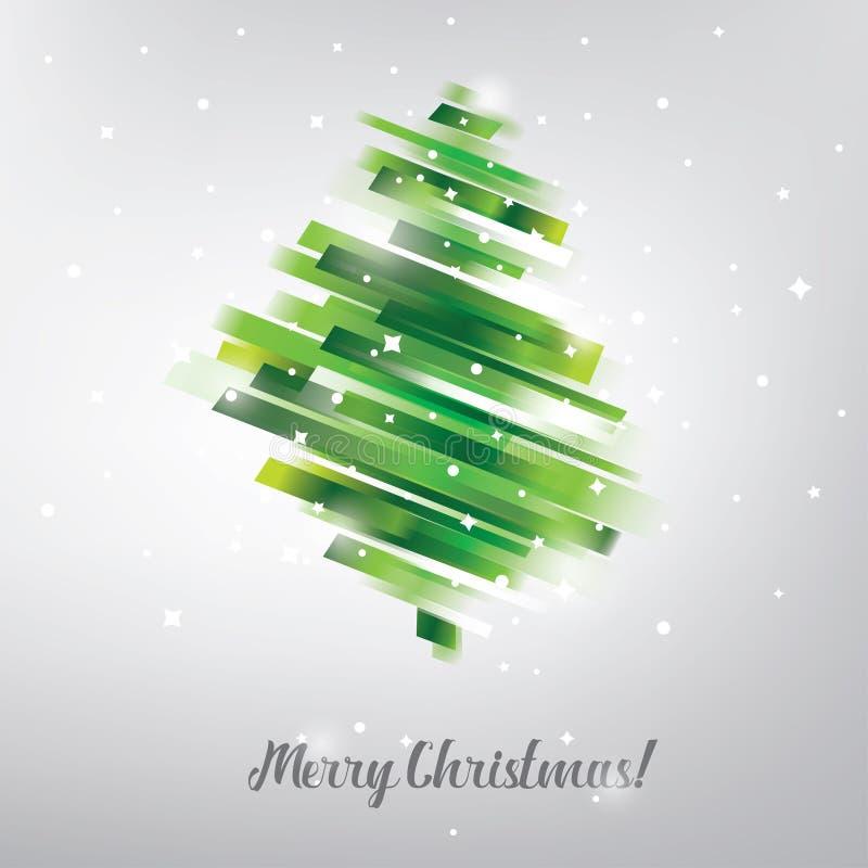 Albero di Natale nel simbolo vibrante moderno di stile illustrazione vettoriale