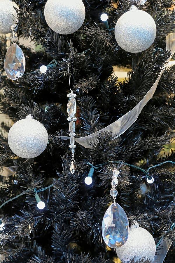 Albero di Natale nero fotografia stock
