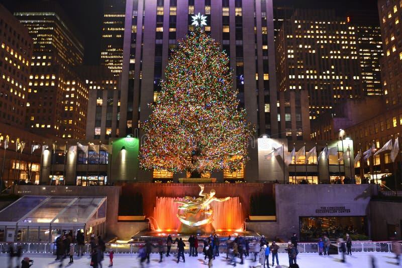 Albero di Natale a New York immagini stock libere da diritti
