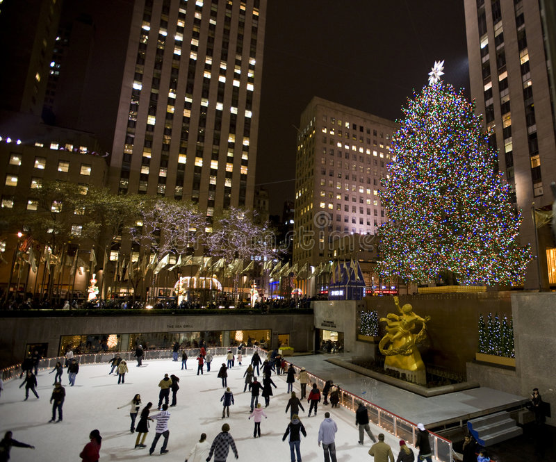 Albero di Natale in NY   fotografia stock libera da diritti