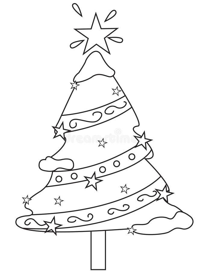 Albero di Natale operato illustrazione di stock