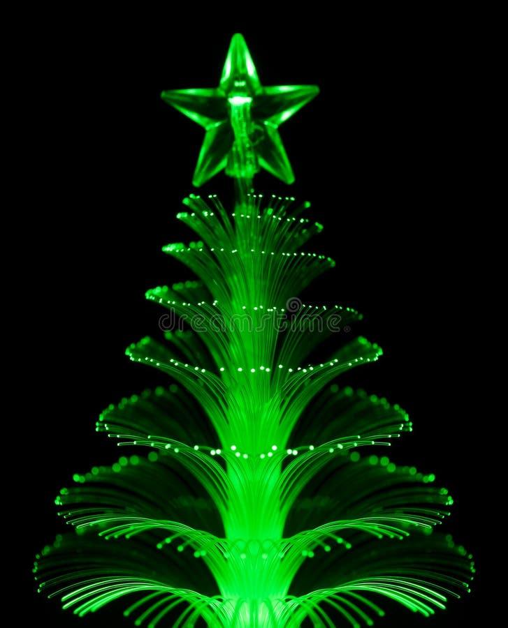 Albero di Natale ottico astratto della fibra immagini stock