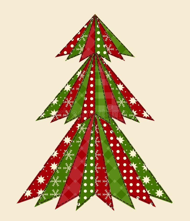 Albero di Natale per scrapbooking 1 royalty illustrazione gratis