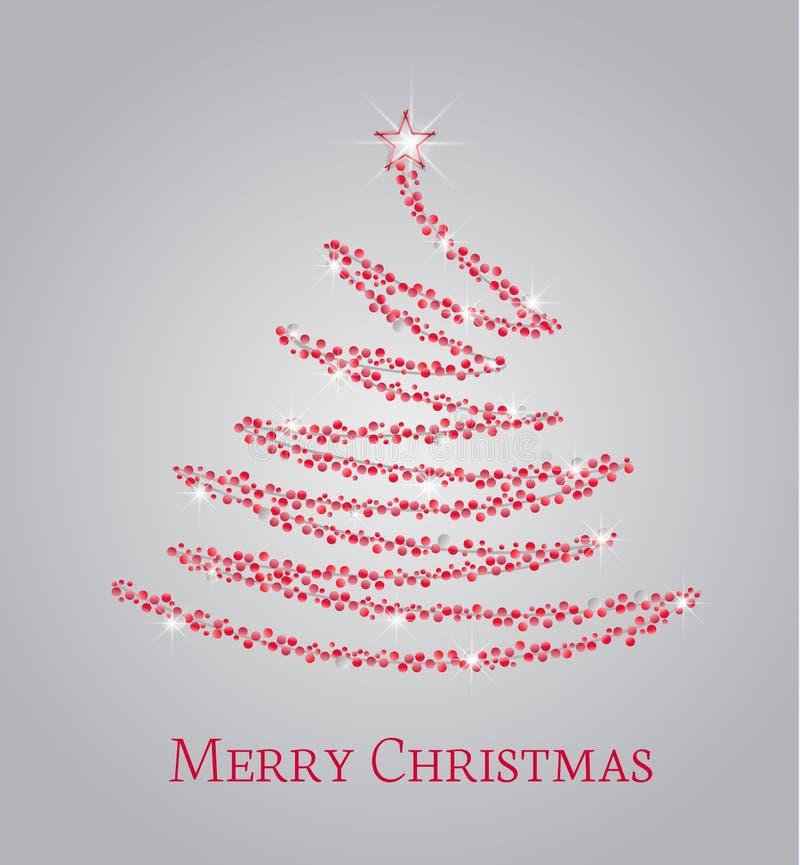 Albero di Natale rosso royalty illustrazione gratis