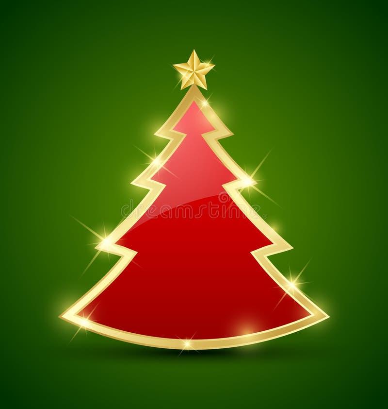 Albero di Natale semplice illustrazione di stock