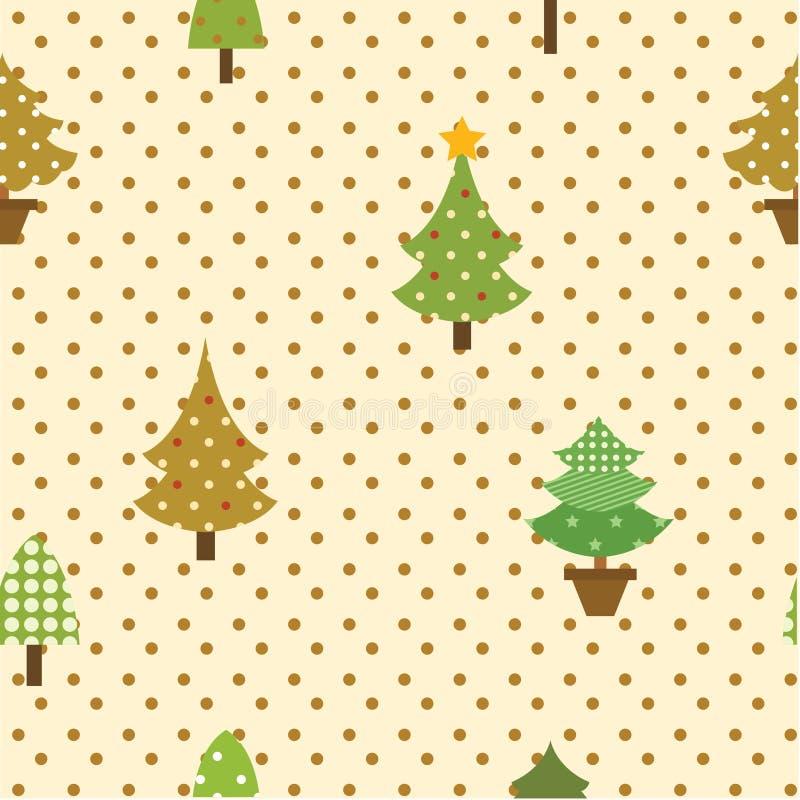 Albero di Natale senza cuciture del modello royalty illustrazione gratis