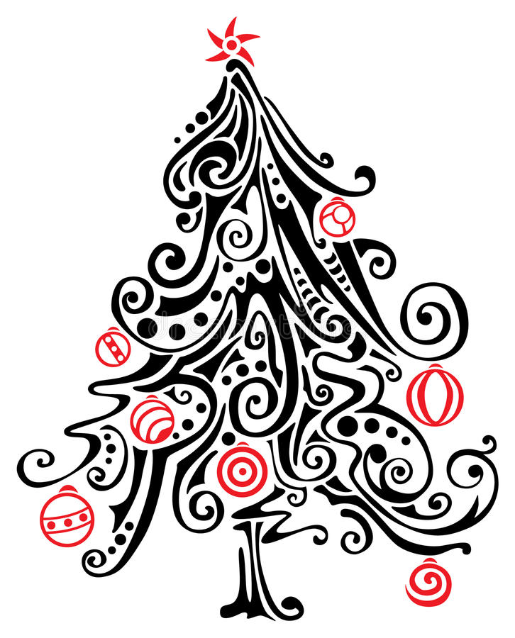 Albero di Natale stilizzato royalty illustrazione gratis