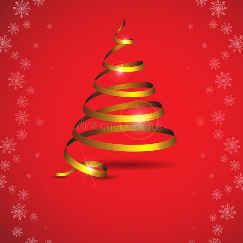 Albero di Natale stilizzato del nastro. royalty illustrazione gratis