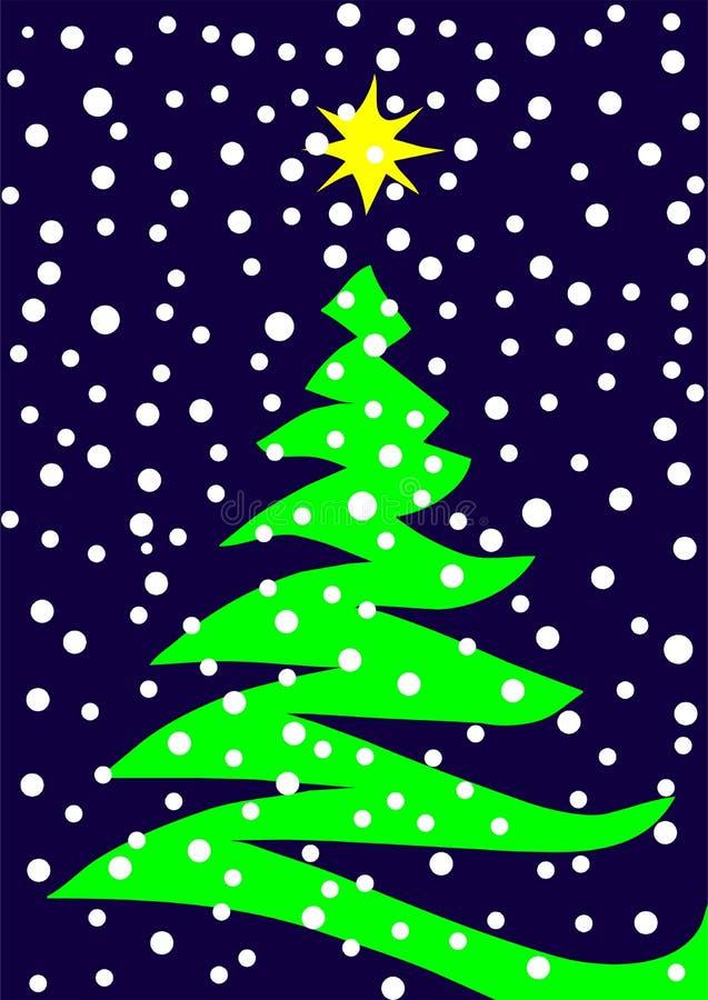 Albero di Natale stilizzato di vettore illustrazione vettoriale