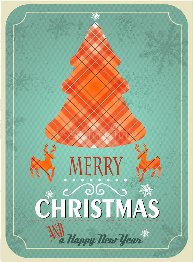 Albero di Natale strutturato illustrazione vettoriale