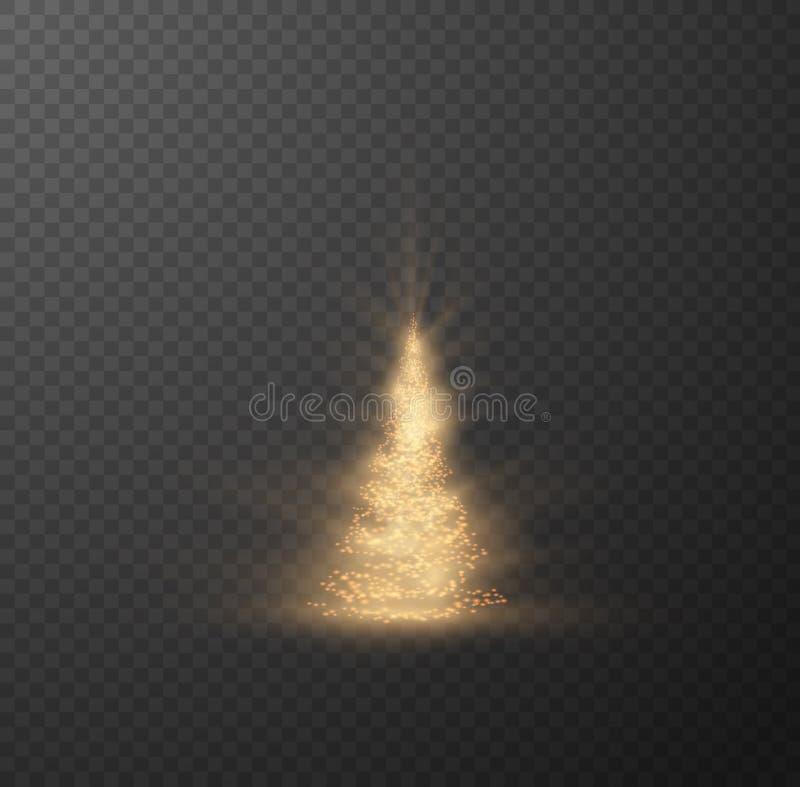 Albero di Natale su fondo a quadretti Vettore eps10 immagine stock libera da diritti