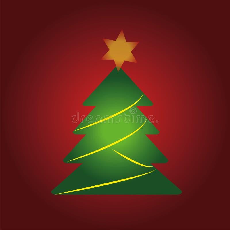 Albero di Natale vectorized per qualsiasi tipo di illustrazioni a partire dalle ferie illustrazione di stock