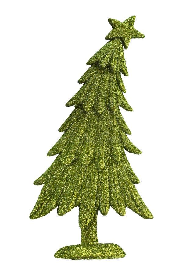 Albero di Natale verde di scintillio immagine stock libera da diritti