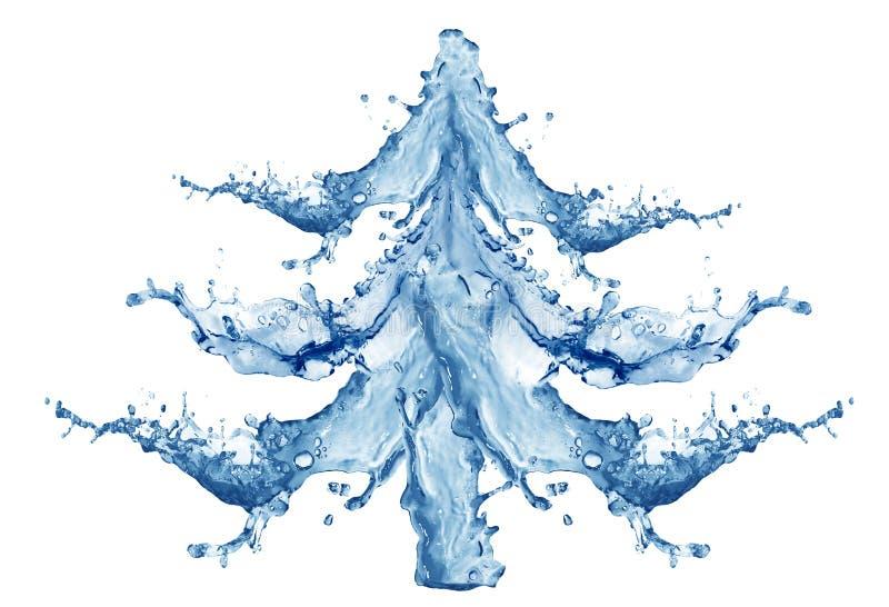 Albero di nuovo anno da acqua fotografia stock